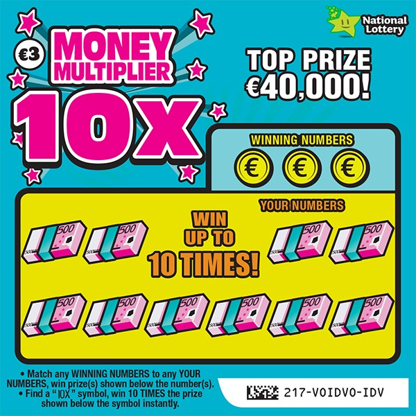 money multiplier 10X scratchcard