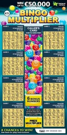 bingo multiplier scratchcard