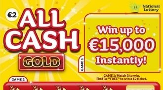 All Cash Gold Irish Scratchcard Thumbnail