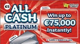 All Cash Platinum Irish Scratchcard Thumbnail