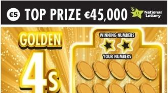 Golden 4s and Silver 5s Irish Scratchcard Thumbnail