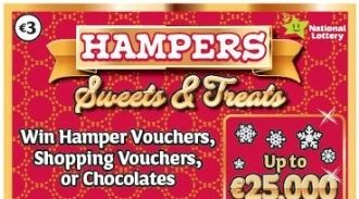 Hampers Sweets and Treats 2019 Irish Scratchcard Thumbnail