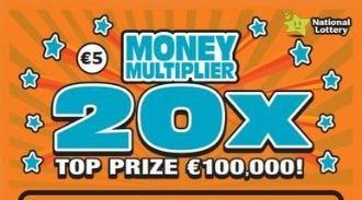 Money Multiplier 20X Irish Scratchcard Thumbnail
