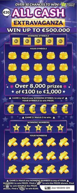 all cash extravaganza scratchcard