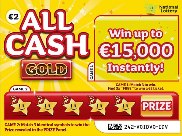 all cash gold scratchcard