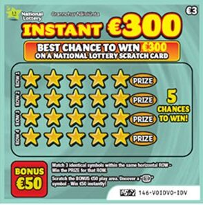 instant €300 scratchcard