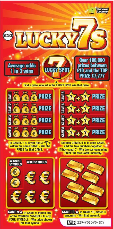 lucky 7s scratchcard