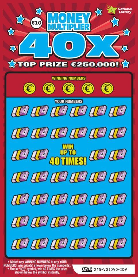 money multiplier 40x scratchcard