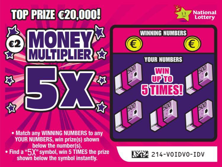 money multiplier 5X scratchcard