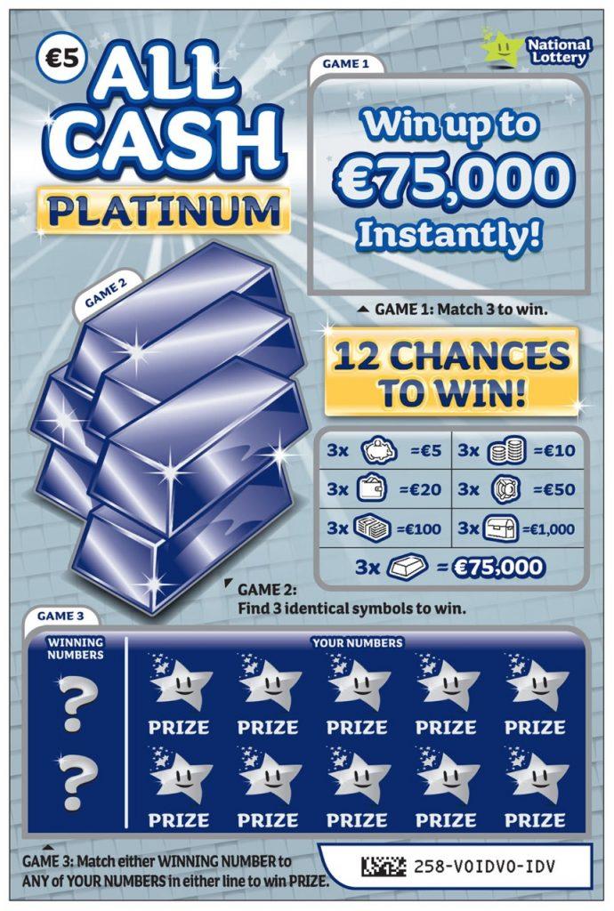 All Cash Platinum Silver Scratchcard
