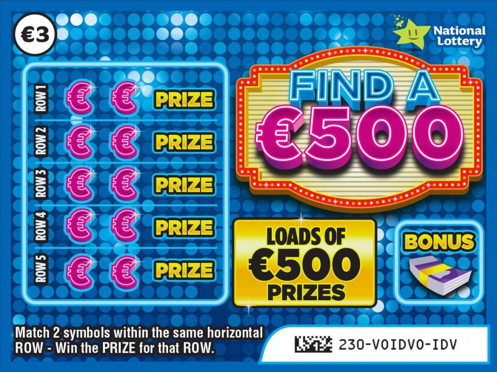 find a €500 scratchcard